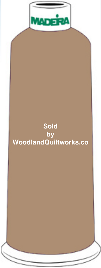 Madeira Burmilana Wool #12 Thread : Color 813-3434 Brown - Woodland Quiltworks, LLC