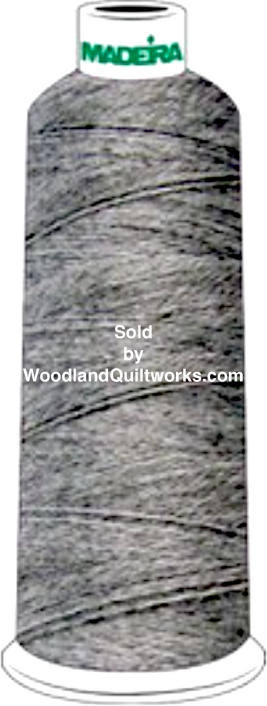 Madeira Burmilana Wool #12 Thread : Color 813-3501 Grey Melange - Woodland Quiltworks, LLC