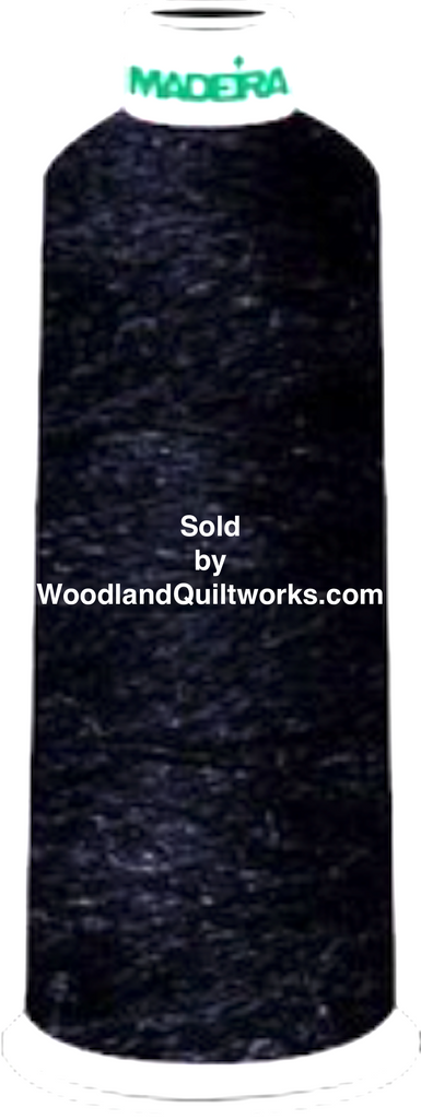 Madeira Burmilana Wool #12 Thread : Color 813-3644 Dark Purple Melange - Woodland Quiltworks, LLC