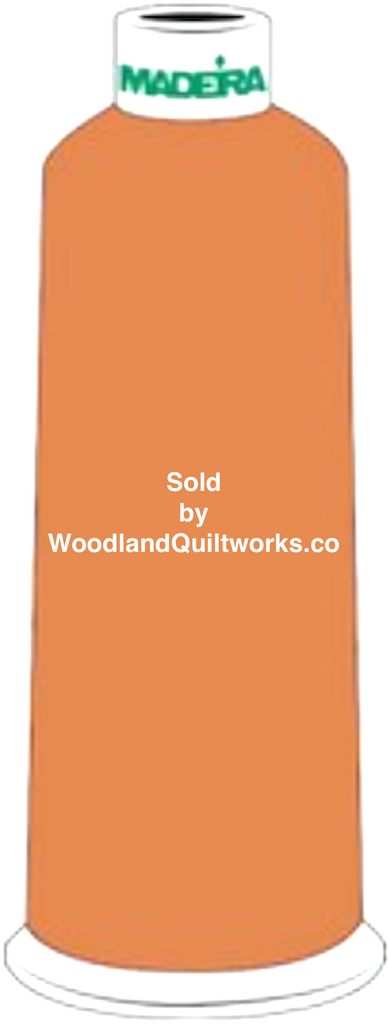 Madeira Burmilana Wool #12 Thread : Color 813-3756 Brown Orange - Woodland Quiltworks, LLC