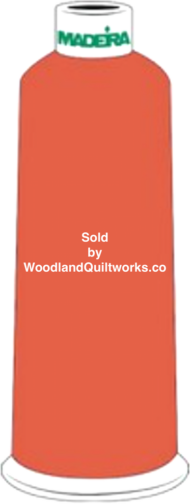 Madeira Burmilana Wool #12 Thread : Color 813-3803 Orange - Woodland Quiltworks, LLC