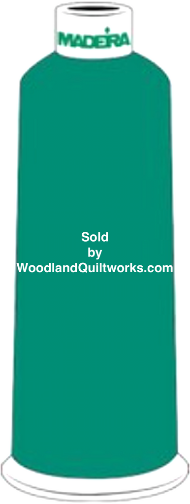 Madeira Burmilana Wool #12 Thread : Color 813-3823 Blue Green - Woodland Quiltworks, LLC