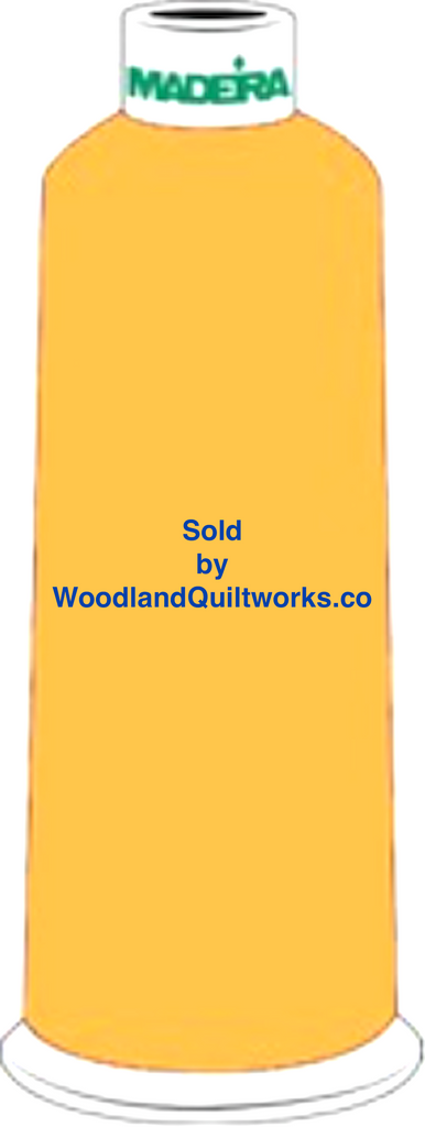 Madeira Burmilana Wool #12 Thread : Color 813-3850 Yellow - Woodland Quiltworks, LLC
