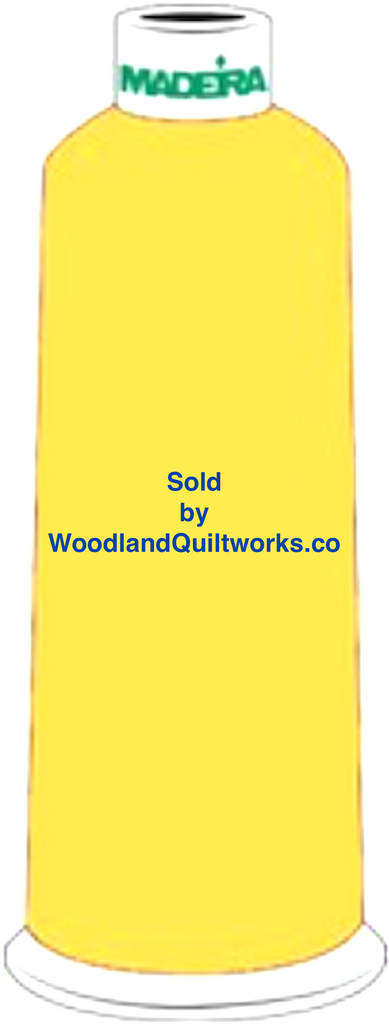 Madeira Burmilana Wool #12 Thread : Color 813-3853 Yellow - Woodland Quiltworks, LLC