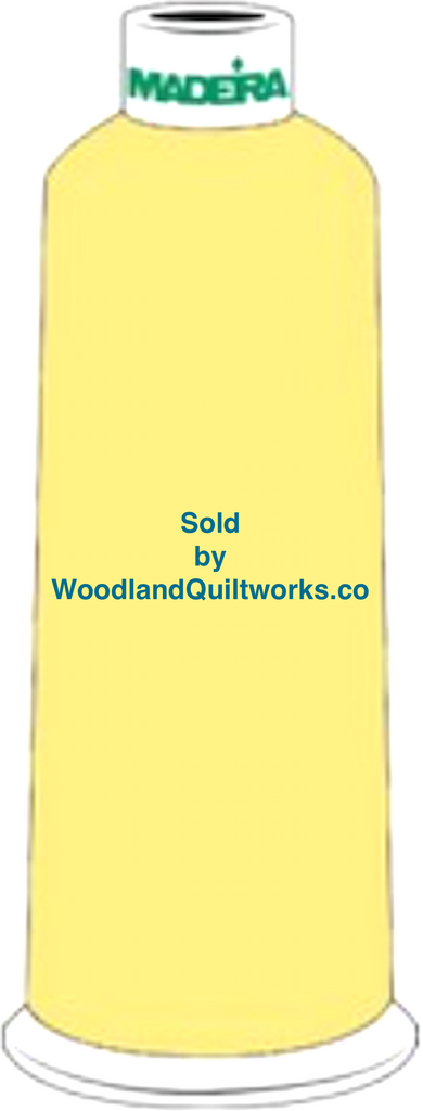 Madeira Burmilana Wool #12 Thread : Color 813-3854 Yellow Green - Woodland Quiltworks, LLC
