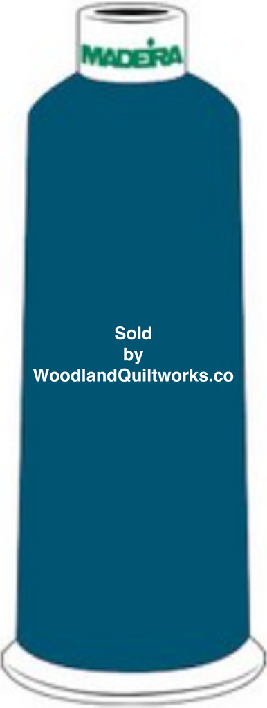 Madeira Burmilana Wool #12 Thread : Color 813-3872 Blue Green - Woodland Quiltworks, LLC