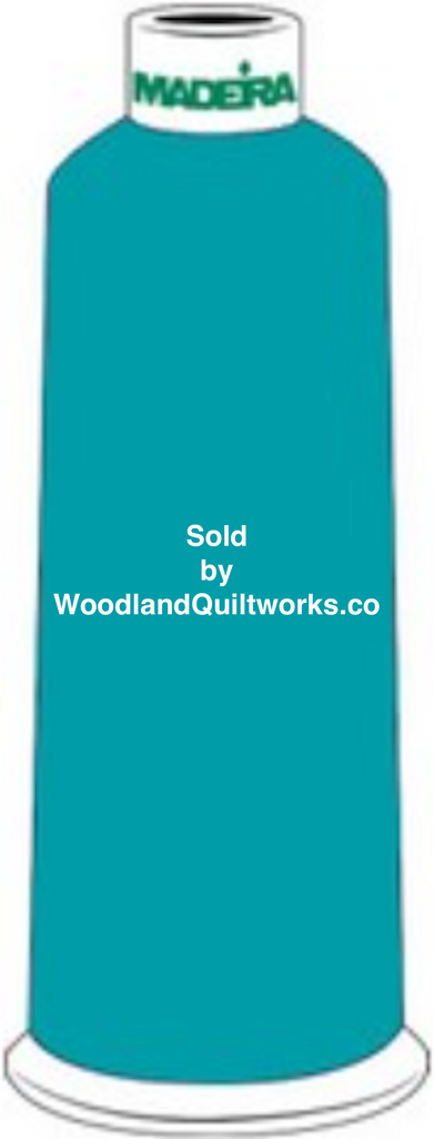 Madeira Burmilana Wool #12 Thread : Color 813-3876 Blue Green - Woodland Quiltworks, LLC