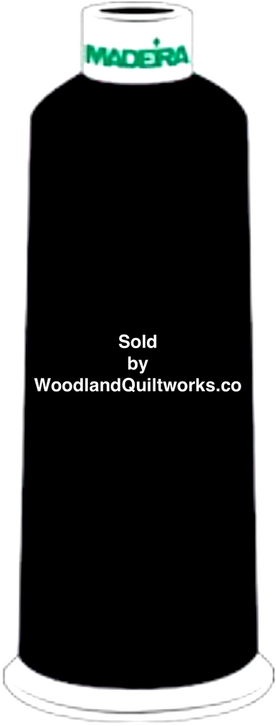 Madeira Burmilana Wool #12 Thread : Color 813-3892 Black - Woodland Quiltworks, LLC