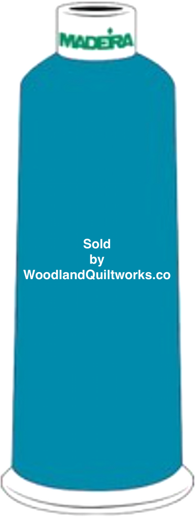 Madeira Burmilana Wool #12 Thread : Color 813-3915 Blue Green - Woodland Quiltworks, LLC