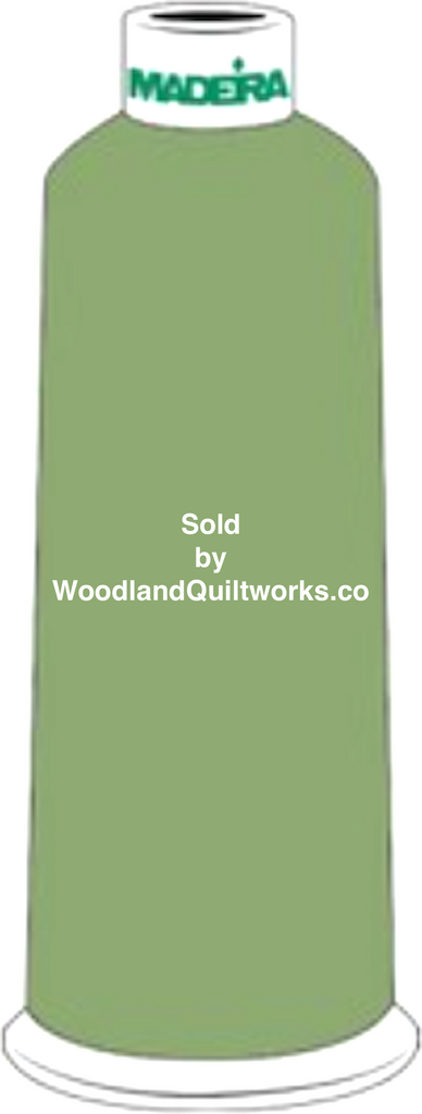 Madeira Burmilana Wool #12 Thread : Color 813-3931 Green - Woodland Quiltworks, LLC