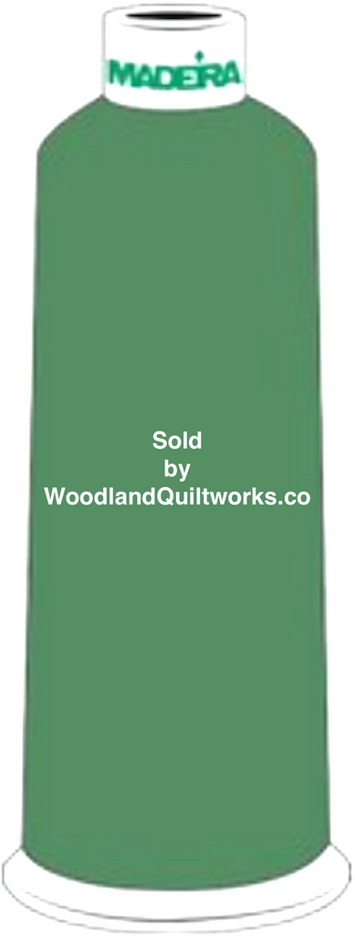 Madeira Burmilana Wool #12 Thread : Color 813-3941 Green - Woodland Quiltworks, LLC