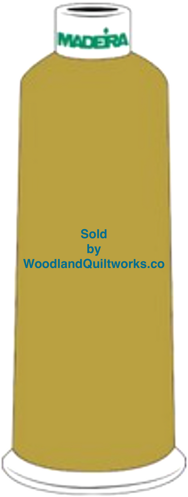 Madeira Burmilana Wool #12 Thread : Color 813-3980 Yellow Green - Woodland Quiltworks, LLC