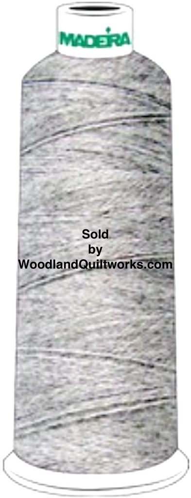 Madeira Burmilana Wool #12 Thread : Color 813-3986 Grey Melange - Woodland Quiltworks, LLC