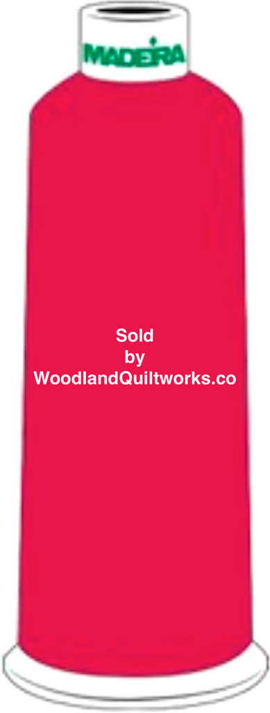 Madeira Burmilana Wool #12 Thread : Color 813-3989 Red Pink - Woodland Quiltworks, LLC