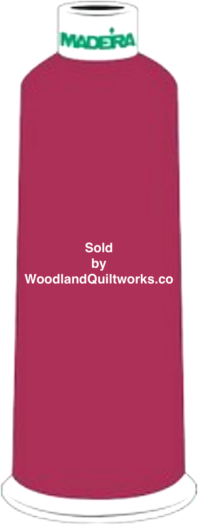 Madeira Burmilana Wool #12 Thread : Color 813-3990 Red Pink - Woodland Quiltworks, LLC