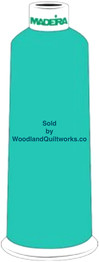 Madeira Burmilana Wool #12 Thread : Color 813-3996 Blue Green - Woodland Quiltworks, LLC