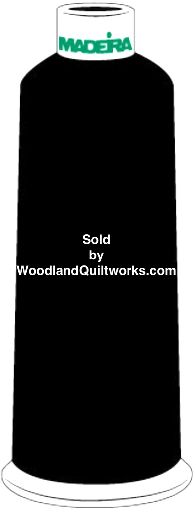 Madeira Burmilana Cotton #12 Thread : Color 816-3000 Black - Woodland Quiltworks, LLC