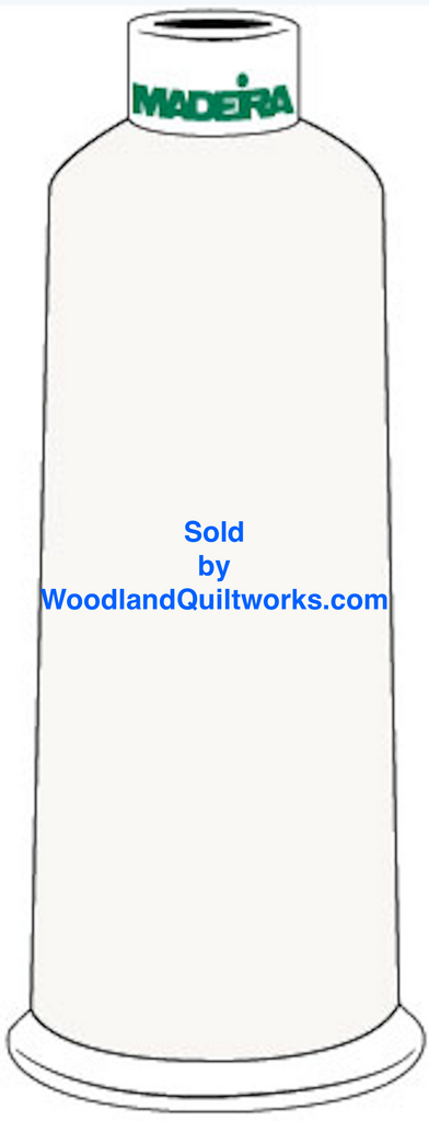 Madeira Burmilana Cotton #12 Thread : Color 816-3001 White - Woodland Quiltworks, LLC