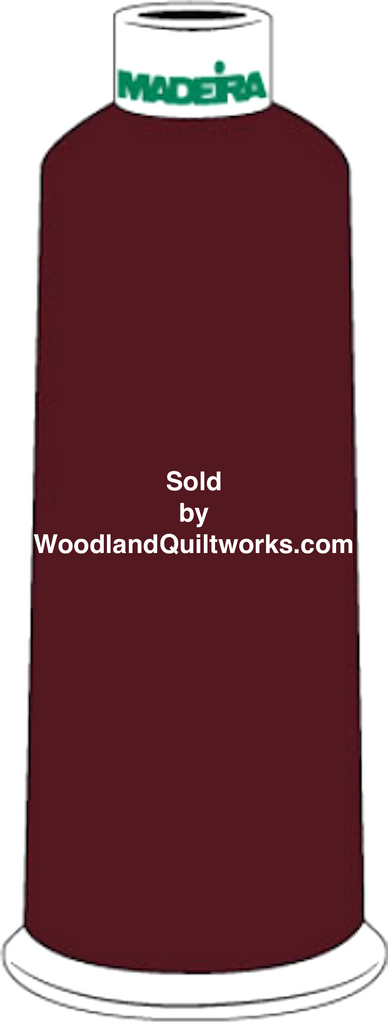 Madeira Burmilana Cotton #12 Thread : Color 816-3184 Maroon - Woodland Quiltworks, LLC