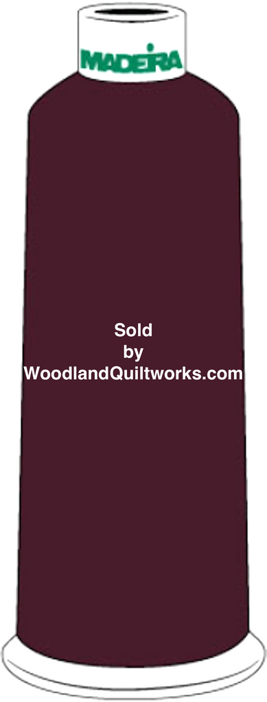 Madeira Burmilana Cotton #12 Thread : Color 816-3186 Maroon - Woodland Quiltworks, LLC