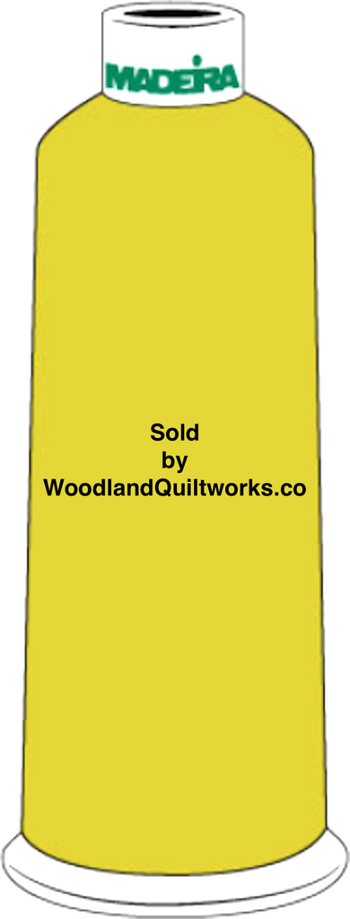Madeira Burmilana Cotton #12 Thread : Color 816-3223 Yellow - Woodland Quiltworks, LLC