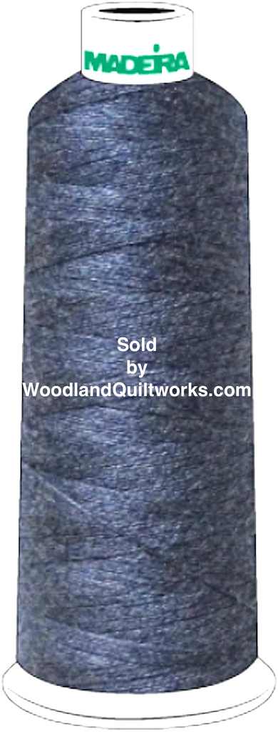 Madeira Burmilana Cotton #12 Thread : Color 816-3256 Navy Melange - Woodland Quiltworks, LLC