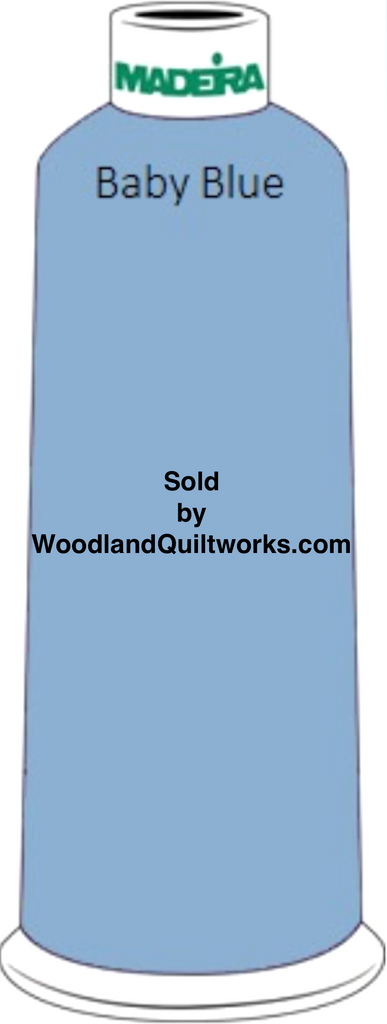 Madeira Classic Rayon #12 : Color 920-1075 Blue, Baby Blue - Woodland Quiltworks, LLC
