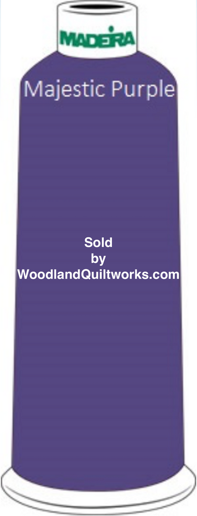 Madeira Classic Rayon #12 : Color 920-1112 Purple, Majestic Purple - Woodland Quiltworks, LLC