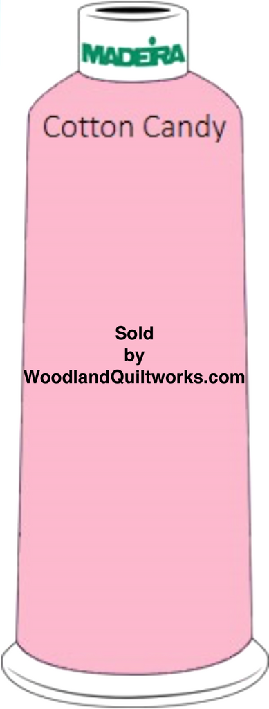 Madeira Classic Rayon #12 : Color 920-1116 Pink, Cotton Candy - Woodland Quiltworks, LLC