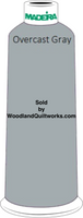 Madeira Classic Rayon #12 : Color 920-1118 Gray, Overcast Gray - Woodland Quiltworks, LLC