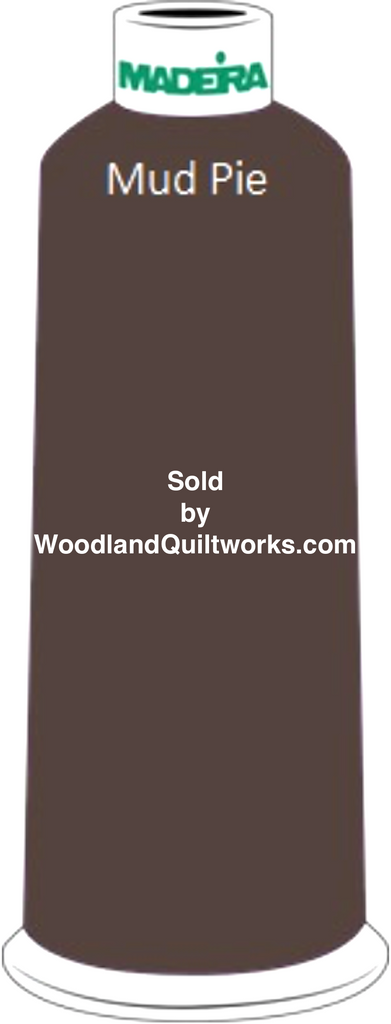 Madeira Classic Rayon #12 : Color 920-1129 Brown, Mud Pie - Woodland Quiltworks, LLC
