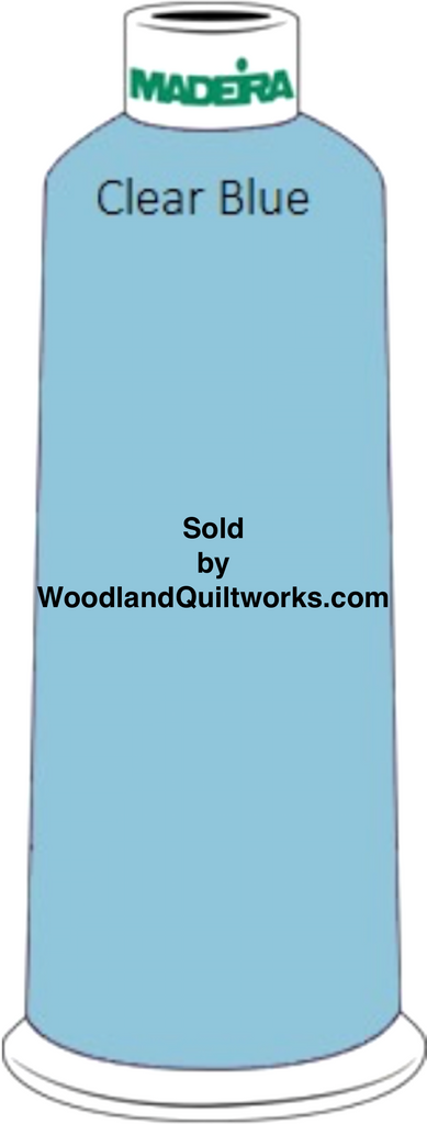 Madeira Classic Rayon #12 : Color 920-1132 Blue/Green, Clear Blue - Woodland Quiltworks, LLC