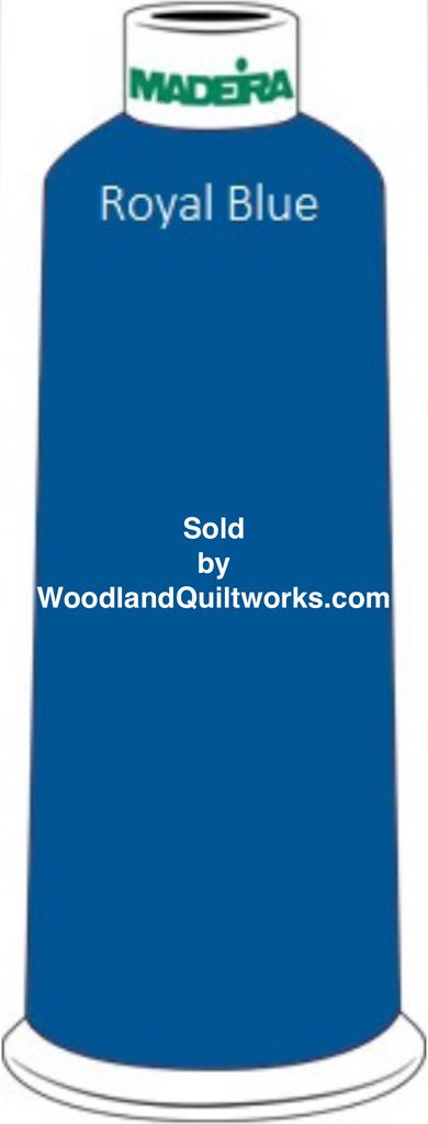 Madeira Classic Rayon #12 : Color 920-1134 Blue, Royal Blue - Woodland Quiltworks, LLC