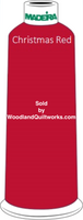 Madeira Classic Rayon #12 : Color 920-1147 Red, Christmas Red - Woodland Quiltworks, LLC