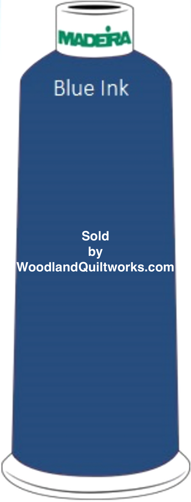 Madeira Classic Rayon #12 : Color 920-1167 Blue, Blue Ink - Woodland Quiltworks, LLC