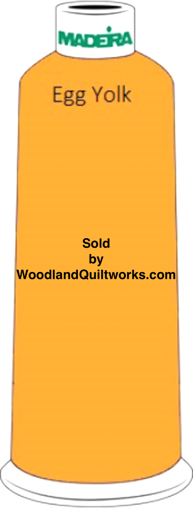 Madeira Classic Rayon #12 : Color 920-1172 Gold, Egg Yolk - Woodland Quiltworks, LLC
