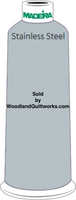 Madeira Classic Rayon #12 : Color 920-1212 Gray, Stainless Steel - Woodland Quiltworks, LLC