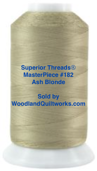 Superior Threads® MasterPiece #182 Ash Blonde #50/3-Ply 2,500 Yard Cone.
