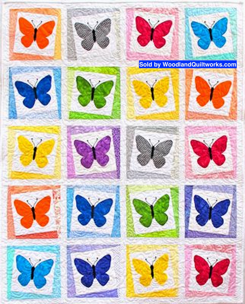 Beautiful Butterflies by Barbara Smith - Woodland Quiltworks, LLC