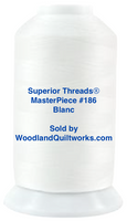 Superior Threads® MasterPiece #186 Blanc #50/3-Ply 2,500 Yard Cone.