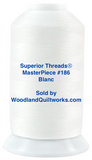 Superior Threads® MasterPiece #186 Blanc #50/3-Ply 2,500 Yard Cone. - Woodland Quiltworks, LLC