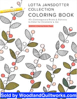 Lotta Jansdotter Collection Coloring Book - Woodland Quiltworks, LLC