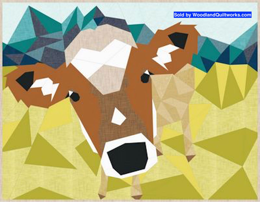 Cow Abstractions by Violet Craft - Woodland Quiltworks, LLC