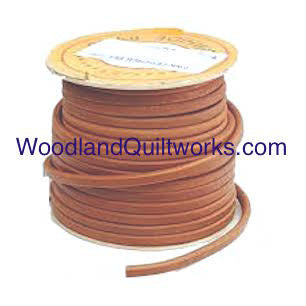 "Treadle Belt Leather - Select Type and Length 3/16"" 5mm, 1/4"" 6mm, 5/16"" 8mm, 11/32"" 9mm - Woodland Quiltworks, LLC"