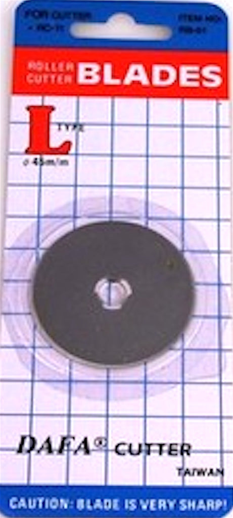 DAFA 45mm Replacement Blade Type L - Quantity (1) Fits Many Brands - Woodland Quiltworks, LLC