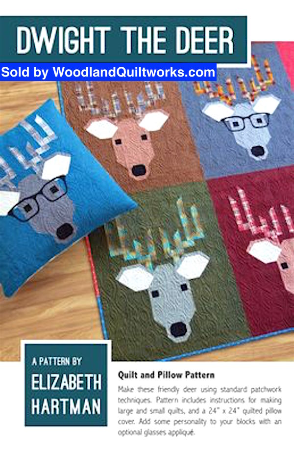 Dwight the Deer Quilt Pattern by Elizabeth Hartman - Woodland Quiltworks, LLC