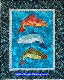 Fish Tales Quilt Pattern by McKenna Ryan - Woodland Quiltworks, LLC