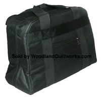 Sewing Machine Tote Bag for Most Free Arm Sewing Machines - Black - Woodland Quiltworks, LLC