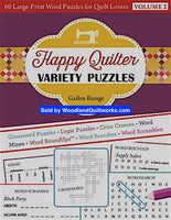 Happy Quilter Variety Puzzles Volume 2 Book by Gailen Runge - Woodland Quiltworks, LLC