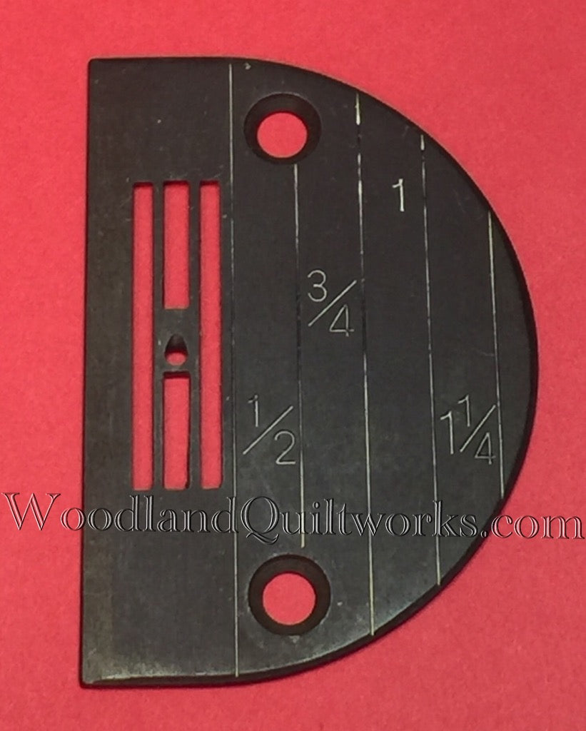 Large Hole Needle Plate Singer 31 Class 44 Class and Other Industrial Machines - Woodland Quiltworks, LLC